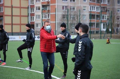 Meras palinkėjo sėkmės Šiaulių vyrų futbolo komandai