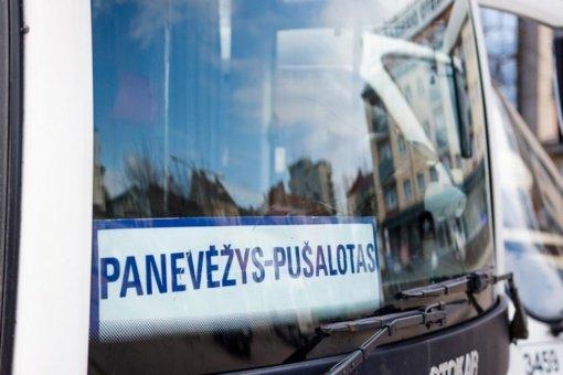 Pandemija apkarpė autobusų reisus į Panevėžio rajoną