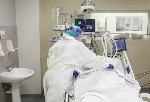 Ligoninėse šiuo metu gydomas 1101 COVID-19 pacientas, iš jų 116 – reanimacijoje
