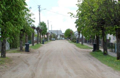 Tauragėje Pilėnų gatvėje žvyrą pakeis asfaltas