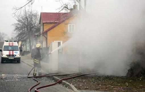 Jankų seniūnijoje sudegė namas