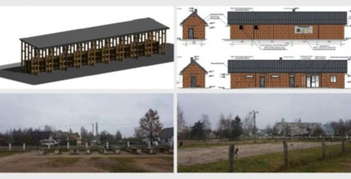 Spendžiama, kaip galėtų atrodyti rekonstruota Rudaminos turgavietė