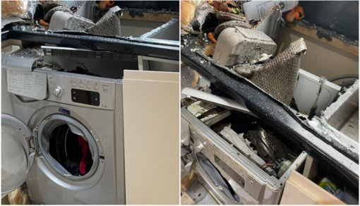 Perspėja: nepalikite skalbimo mašinos be priežiūros – ji gali sprogti