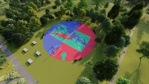 Jaunimo parke atsiras nauja krepšinio aikštelė