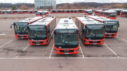 Kauno gatvėse – šimtas naujų autobusų