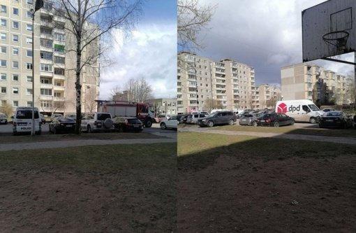 Kuriozas Kaune: DPD automobilį bandęs pavogti vyras užsibarikadavo bute