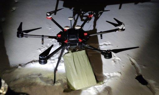 Dronu cigarečių kontrabandą gabenusiam Šalčininkų rajono gyventojui siūloma skirti baudą