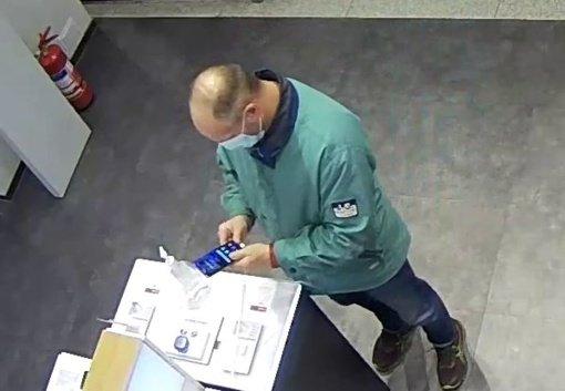 Šiaulių policija prašo padėti atpažinti vagyste įtariamą asmenį