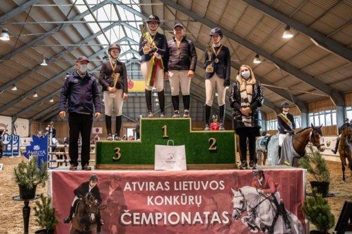 Pakaunės sportininkai triumfavo Lietuvos konkūrų čempionate