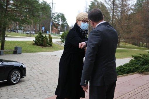 Visagino savivaldybėje lankosi premjerė Ingrida Šimonytė