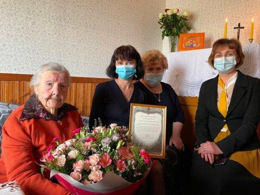 Dūkštų seniūnijos gyventoja Leonarda Subotovič švenčia 100 metų jubiliejų