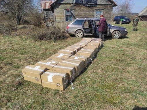 Kontrabandininkų gaudynės Šalčininkų rajone: bėglius vijosi ir tarnybinis pasieniečių šuo