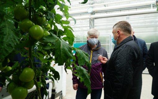 Anykščių rajone lankėsi žemės ūkio ministras