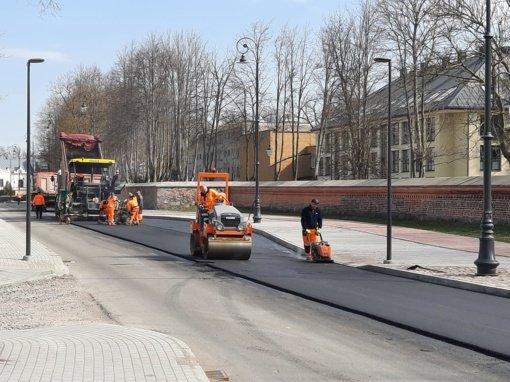 Gatvių remontas Kretingoje: kai kur ribojamas eismas