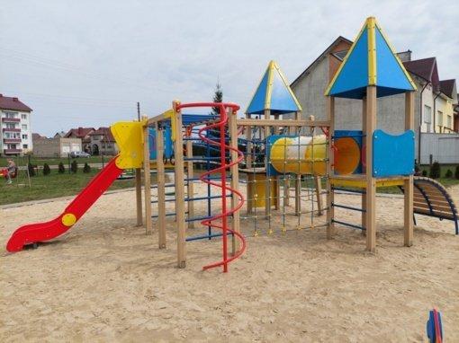 Klaipėdos rajone atnaujinamos vaikų žaidimų aikštelės