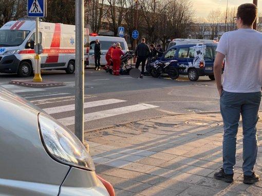 Avarija Vilniaus gatvėje: sužalotas motociklininkas