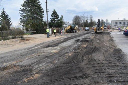 Vilniaus gatvės rekonstrukcija Širvintose juda į priekį