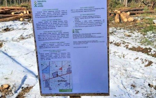 Apie miškuose vykdomus darbus įspės informaciniai stendai