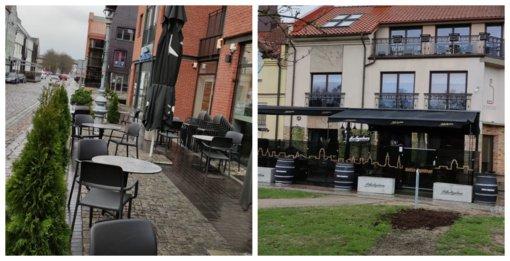 Duris atveria lauko kavinės: griežti vyriausybės reikalavimai verslininkų nedžiugina
