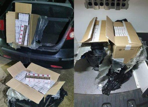 Švenčionyse sustabdytame automobilyje aptikta kontrabandinių rūkalų