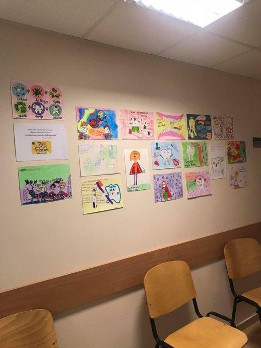 Joniškio Odontologijos skyriuje – vaikų priešinių paroda