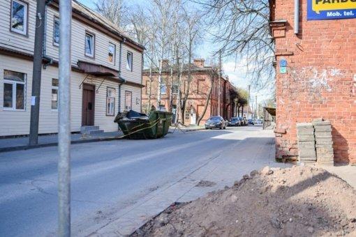 Archeologai Kranto gatvėje atrado pastato pamatų liekanas