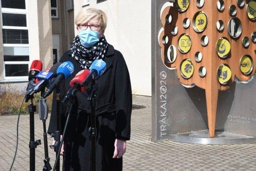 Trakuose viešėjo premjerė I. Šimonytė: susipažino su rajono gyventojų vakcinavimo eiga