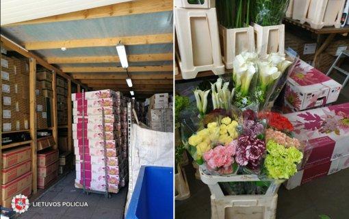 Į Panevėžio pareigūnų akiratį pateko didmenine prekyba gėlėmis besiverčianti bendrovė