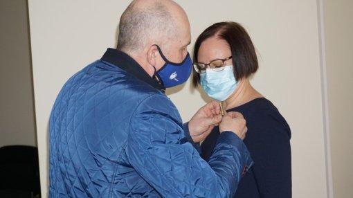 Du Ukmergės gydytojai apdovanoti Mero padėkos ženklu