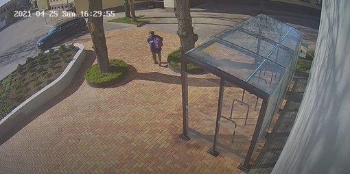 """Alytuje pagrobta statulėlė """"Nasredinas ant asiliuko"""": policija prašo atpažinti vagį (vaizdo įrašas)"""