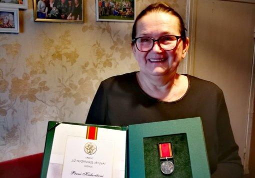 """Pranė Krilavičienė apdovanota ordino """"Už nuopelnus Lietuvai"""" medaliu"""