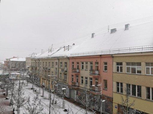 Po nakties šiauliečiai šoke: miestą netikėtai užklupo žiema