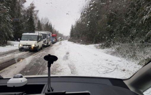 Gegužę užklupusios žiemos išdaigos: nuvirtę medžiai, nepravažiuojami keliai ir nuo kelio nuvažiavę automobiliai