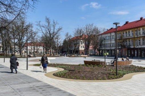 Panevėžyje Laisvės aikštėje pradėjo veikti fontanas