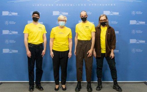 """Premjerė palinkėjo grupei """"The Roop"""" sėkmės """"Eurovizijos"""" konkurse"""