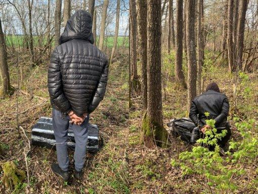 Į pasieniečių pasalą pateko du kontrabandos pasiimti atėję Švenčionių rajono gyventojai