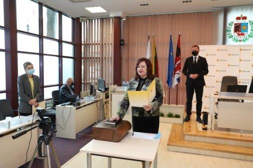 Perduotas Šiaulių miesto tarybos nario mandatas