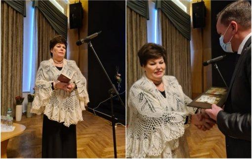 Atidaryta paroda, pasakojanti apie Visagino garbės pilietės Česlavos Pimpienės kūrybinį kelią