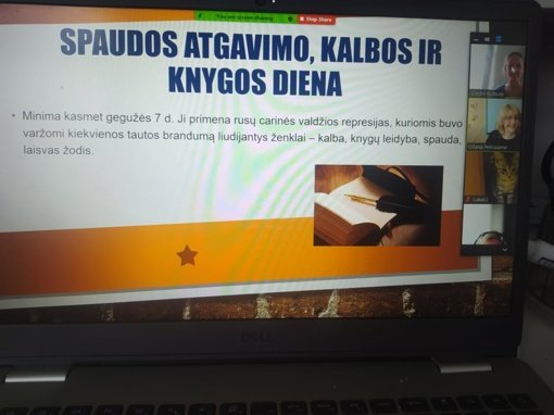 Viktorina, skirta Spaudos atgavimo, kalbos ir knygos dienai ir virtualaus edukacinio gido pristatymas Rėkyvos filiale