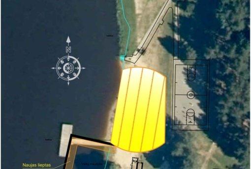 Rokiškio ežero pakrantėje vyksta atnaujinimo darbai