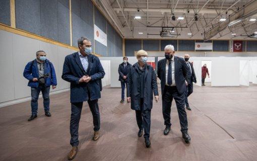 Vakarų Lietuvoje premjerė akcentavo vakcinavimo svarbą ir jau akivaizdžią naudą