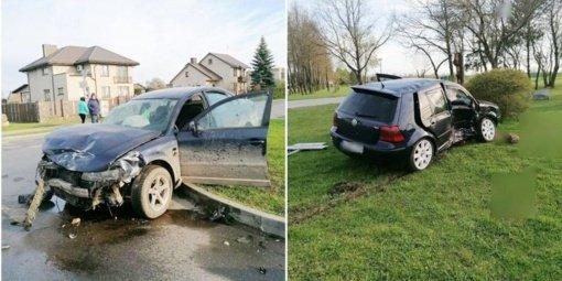 Eismo įvykio metu nukentėjo jauna vairuotoja ir nepilnametė keleivė