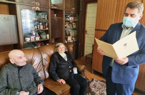 Kupiškio rajone pasveikintas šimto metų jubiliejų švenčiantis Albinas Keršulis