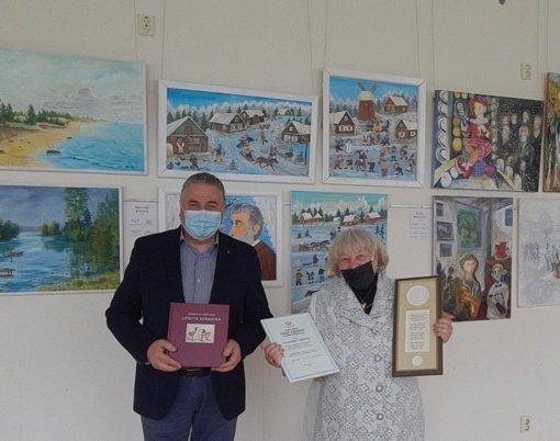 LR Seimo nario padėka respublikinės parodos, skirtos Adomo Varno premijai laimėti, dalyvei
