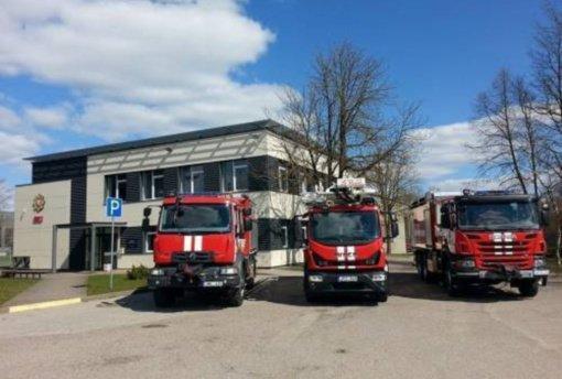 Per gaisrą gamykloje išdegė patalpa