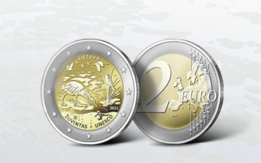 Bus išleista proginė moneta, skirta Žuvinto biosferos rezervatui