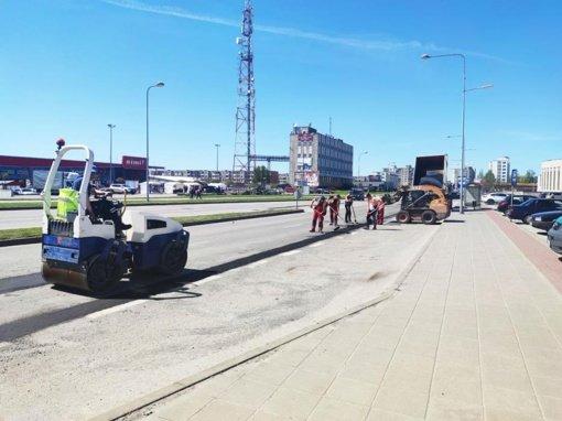 Gatvėse ir keliuose darbymetis – remontuojama danga