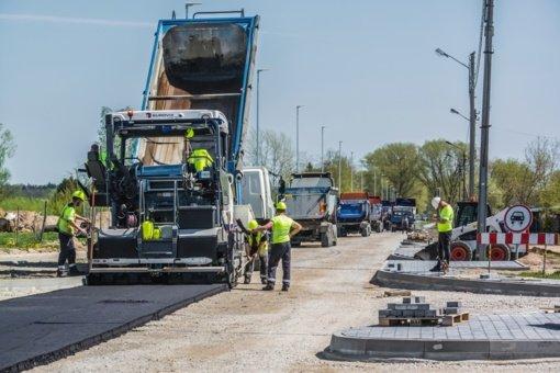 Panevėžyje vyksta miesto gatvių atnaujinimo darbai