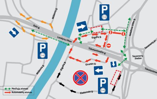 Šeštadienį Vilniuje – laikini eismo pokyčiai