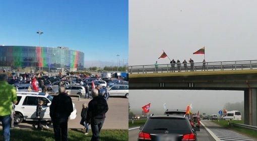 """""""Didžiojo šeimos gynimo maršo"""" dalyviai pajudėjo iš įvairiausių Lietuvos kampelių: neišvengta incidentų"""